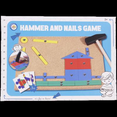 Hamer & spijker spel - Multicolor - Hout / Metaal
