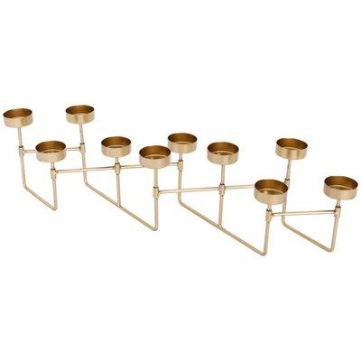 Harmonica theelichthouder set CHANTAL - Goud - Metaal - 50 x 10 x 12 cm