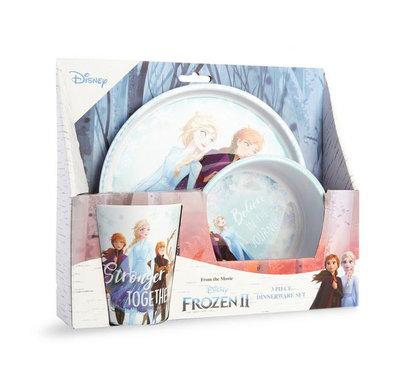 Disney Frozen II servies set - Multicolor - Kunststof - Set van 3