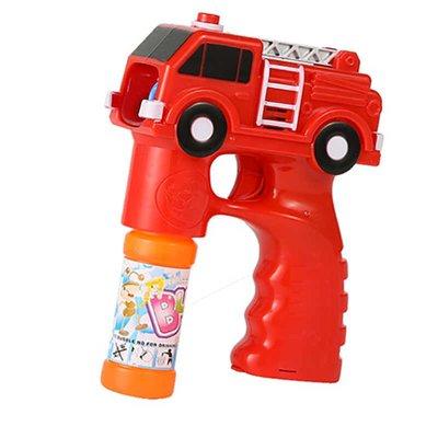 Brandweer bellenblaas pistool - Rood - Kunststof - 12.5 x 5.5 x 17 cm