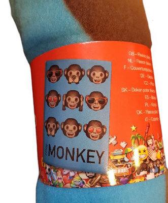 Emoji Ape fleece deken - Multicolor - 120 x 140 cm