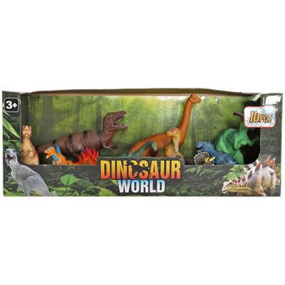 Dinosaurus speelset - Multicolor - Kunststof - 10 delig