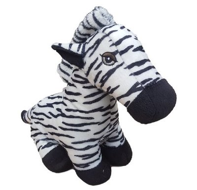 Deurstopper Zebra - Zwart / Wit - 27 cm