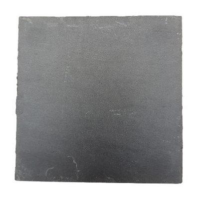 Luxe onderzetter DERK - Antraciet - Leisteen - Vierkant - 10 x 10 cm - Set van 4