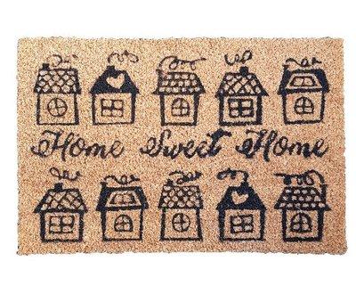 Deurmat met tekst LAURENT - Kokosmat - Home Sweet Home - 60 x 40 cm