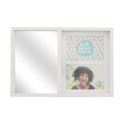 Fotolijst met spiegel JO - Wit - Hout / Glas - 38 x 26 cm