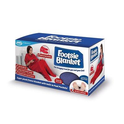 JML Footsie Blanket - Rood - fleece deken, deken met voetzakken - booties