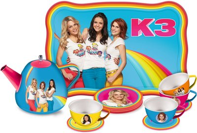 K3 Theeservies - Multicolor - Aluminium - 14 delig