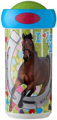 Mepal Campus schoolbeker 300 ml - Multicolor - My Favourite horse - Ø 7 x 15 cm