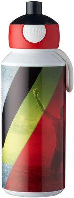 Pop-up beker België - Rood / Geel - Mepal - 400 ml - 6,4 x 7 x 18,4 cm