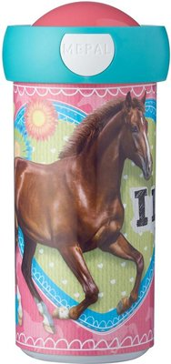Mepal Campus schoolbeker 300 ml - Multicolor - My horse - Ø 7 x 15 cm
