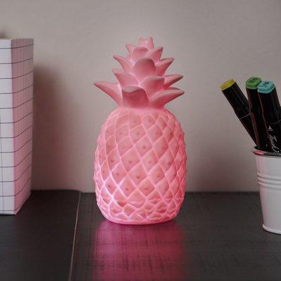 Smartwares LED kids lamp pineapple IDE-60001 - Roze - Kunststof - Ø 10 x h 18 cm