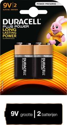 Duracell Plus Power 9V Batterijen - 2 stuks