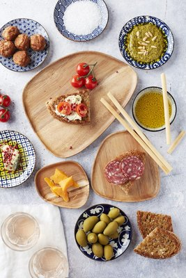 Dagelijkse Kost serveerbord - Bruin - Acaciahout - 25 x 19 x 1.5 cm
