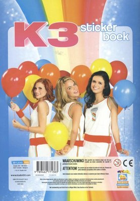 Stickerboek K3: de nieuwe K3 - Multicolor - Kunststof / Karton - 29.7 x 21 x 0,4 cm