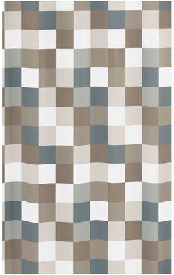 Kleine Wolke douchegordijn Check - Grijs - 180 x 200 cm