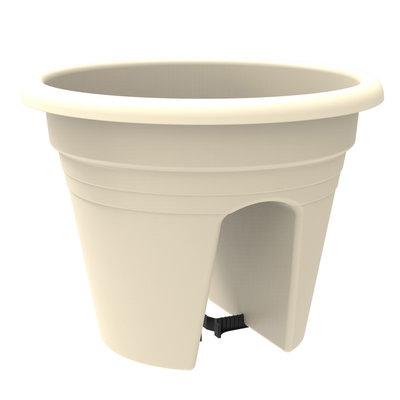 Balkonbak JOAN - Wit - Ø 30 x h 24 cm - Rond