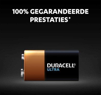 Duracell Ultra 9V Batterij - 1 stuk