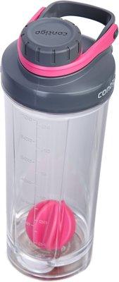 Contigo Shake & Go FIT + compartiment - Roze / Grijs - 650 ml - Kunststof