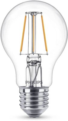 2-pack Philips led filament E27 4W (40W) - A++