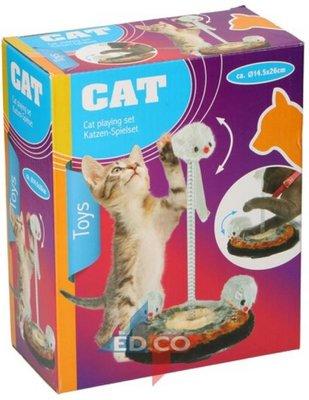 Speelset katten - Multicolor - Ø 14,5 x h 26 cm