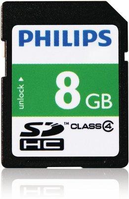 Philips SD-kaart - 8GB - SD Card - Class 4