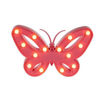 Led Vlinder Lamp - Rood - Kunststof