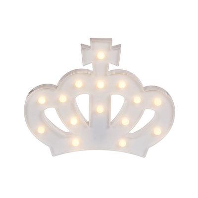 Led Kroon Lamp - Wit - Kunststof