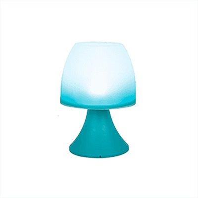 Led Tafellamp CECILE - Blauw - Kunststof - 19 x 12 cm