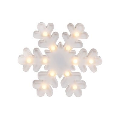 Led Snowflake Lamp Barbara - Wit - Kunststof - 16,5 cm