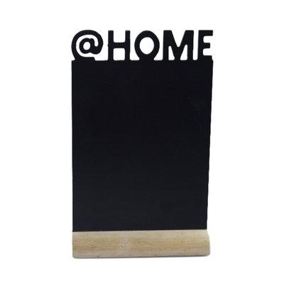 Decoratie Krijtbord op standaard Cadence - @Home - Zwart - Hout - 32x20 cm