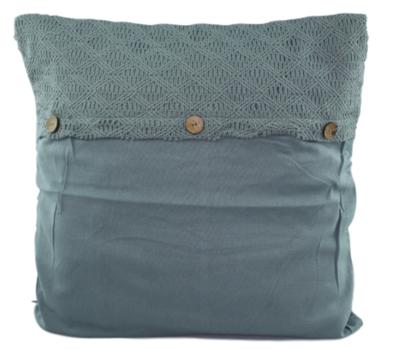 Sierkussenhoes met enveloppe patroon - Groen - 45x45cm