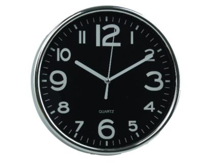 Klok LIEKE - Rond - Ø19.5 cm - Zilver/Zwart - Kunststof