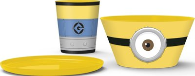Minions - Stapelbare ontbijt/lunch set - 3 delig