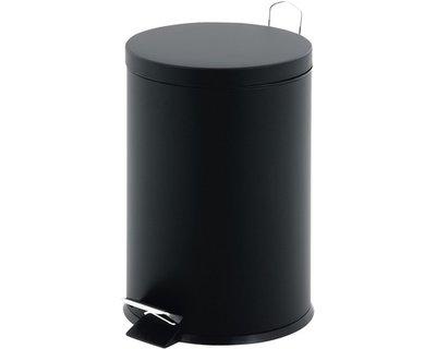 Pedaalemmer met kunststof binnenemmer ROBERTO - Zwart - Rond - 3L - 25 x 16.5cm