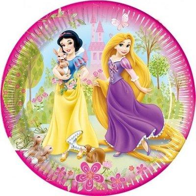 Disney Princess wegwerpborden - Ø 19,5cm - 15 stuks