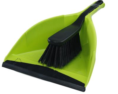 Stoffer en blik - Groen/Zwart