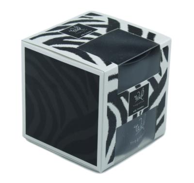 Geurkaars in glazen houder - Wild Fragance - Zebra - Ø10x10cm