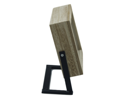 Klok - Staand - Hout/metaal - 19x17cm