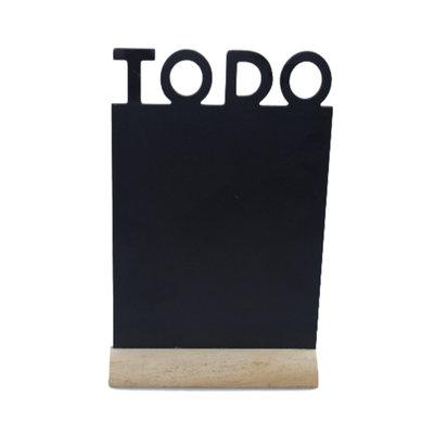 Decoratie Krijtbord op standaard Cadence - TODO - Zwart - Hout - 32x20 cm