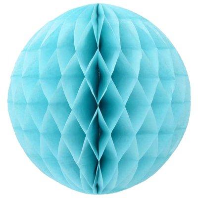 Honeycomb pompom - Lichtblauw - Rond - 20 cm
