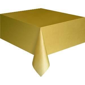Tafelkleed - Goud - Plastic - 137x274cm