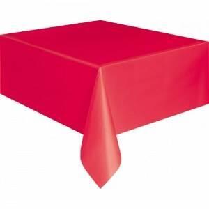 Tafelkleed - Rood - Plastic - 137x274cm