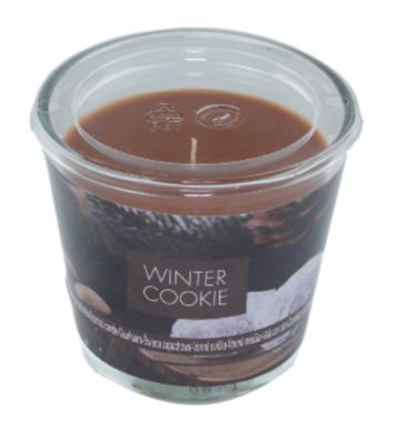 Geurkaars - Winter Cookie - Bruin-  Ø9x8cm