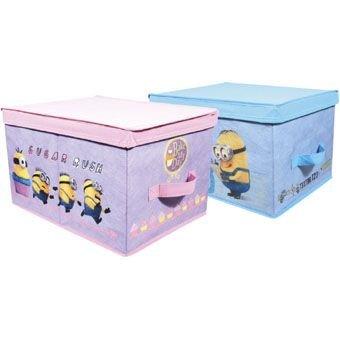 Minions opbergdoos - speelgoeddoos- opklapbare box – Roze - 30x40x25