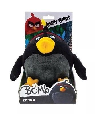 Angry Birds Sleutelhanger Bomb - Knuffel - 14 cm