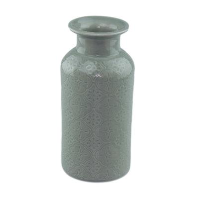 Vaas met patroon SOFIE - keramiek - Groen - 19.5cm