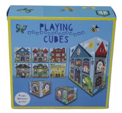 Speelblokken - 9 stuks - 6 verschillende puzzels