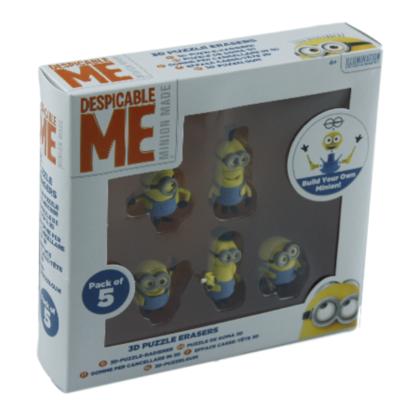 Minions 3D puzzelgum - set van 5