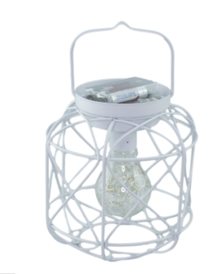 Draad LED Lantaarn SHERHONTE - Wit - Metaal - 15 x 15 x 16.5 cm